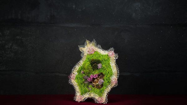 Cornice in vetro di Murano - Pignoli