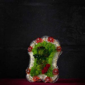 Cornice in vetro di Murano - Cortesia