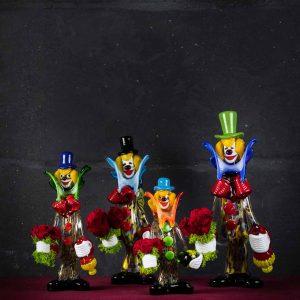 Clown / Pagliaccio in vetro di Murano