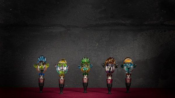 Tappo di bottiglia in vetro di Murano - Perla