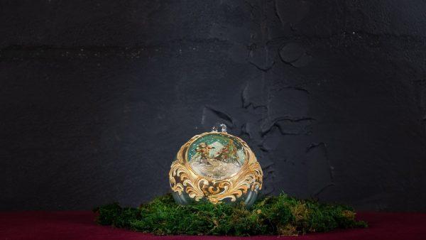 Palla di Natale in vetro di Murano - Abbraccio di Natale