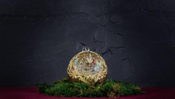 Palla di Natale in vetro di Murano - Angelo di Natale
