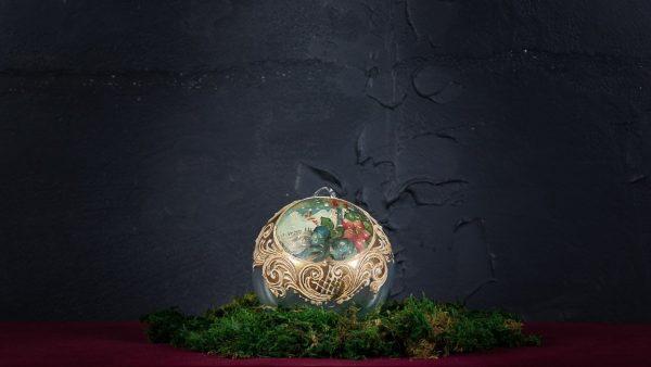 Palla di Natale in vetro di Murano - Atmosfera di Natale