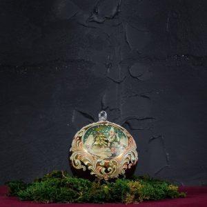Palla di Natale in vetro di Murano - Auguri di Natale
