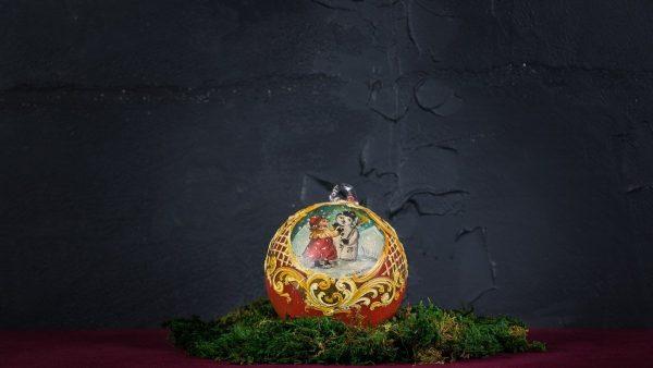 Palla di Natale in vetro di Murano - Babbo Natale