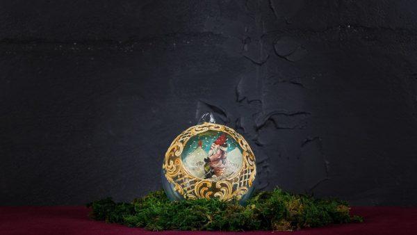 Palla di Natale in vetro di Murano - Brindisi di Natale
