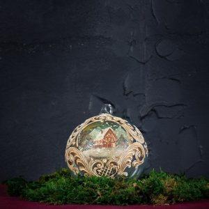 Palla di Natale in vetro di Murano - Calza di Natale