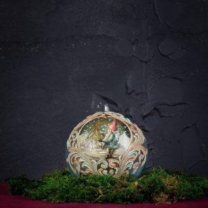 Palla di Natale in vetro di Murano - Candela di Natale