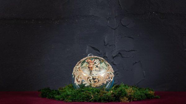 Palla di Natale in vetro di Murano - Canti di Natale