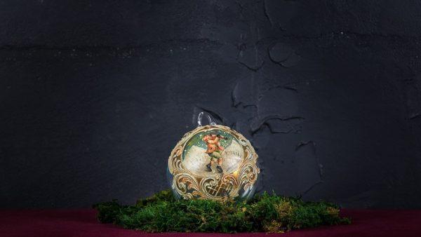 Palla di Natale in vetro di Murano - Canzoni Natalizie