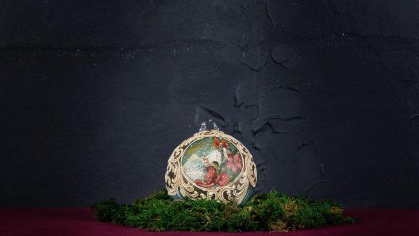 Palla di Natale in vetro di Murano - Fiocco di Natale