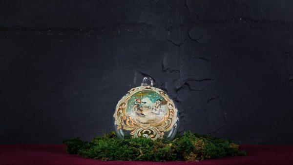 Palla di Natale in vetro di Murano - Ghirlanda di Natale