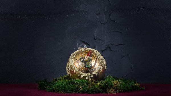 Palla di Natale in vetro di Murano - Giocattolo di Natale