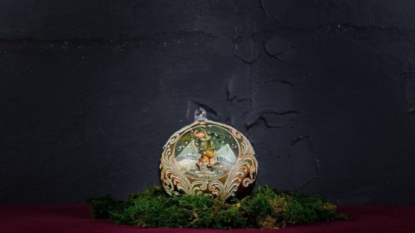 Palla di Natale in vetro di Murano - Giorno di Natale