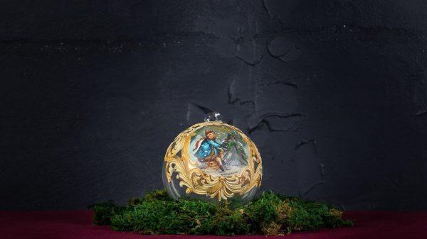 Palla di Natale in vetro di Murano - Lettera di Natale