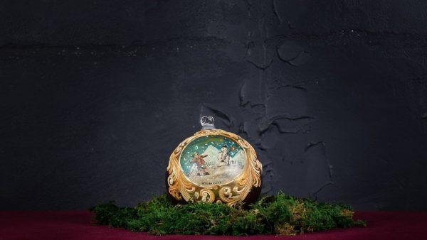 Palla di Natale in vetro di Murano - Nastro di Natale
