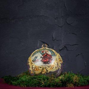 Palla di Natale in vetro di Murano - Neve a Natale
