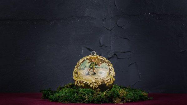 Palla di Natale in vetro di Murano - Notte di Natale