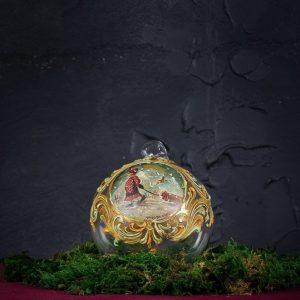 Palla di Natale in vetro di Murano - Palla di Neve