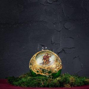 Palla di Natale in vetro di Murano - Pensiero di Capodanno