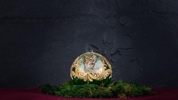 Palla di Natale in vetro di Murano - Pensiero di Natale