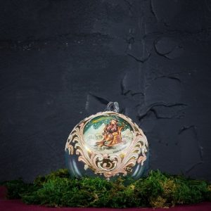 Palla di Natale in vetro di Murano - Pino di Natale