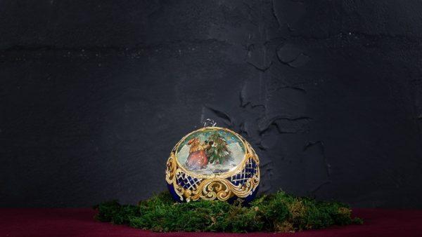 Palla di Natale in vetro di Murano - Pupazzo di Neve