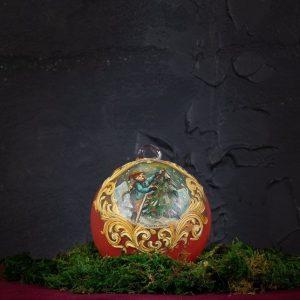 Palla di Natale in vetro di Murano - Slitta di Natale