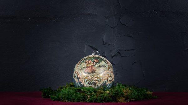 Palla di Natale in vetro di Murano - Tanti Auguri
