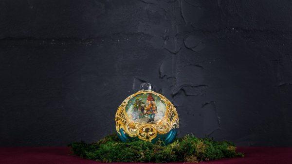 Palla di Natale in vetro di Murano - Vacanza di Natale