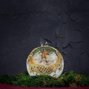 Palla di Natale in vetro di Murano - Vigilia di Natale